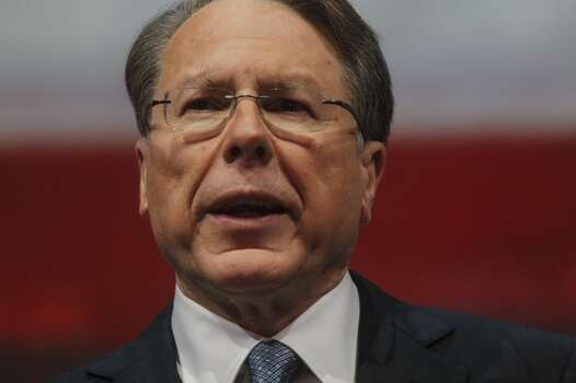 Wayne LaPierre, executive vice president of the NRA, at the NRA convention in Houston on Friday.