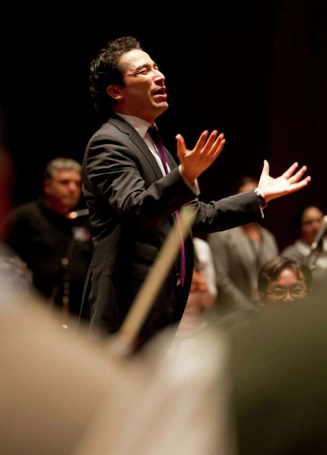 Andrés Orozco-Estrada leads the Houston Symphony into a new season. Photo: Karen Warren, Staff / © 2013 Houston Chronicle
