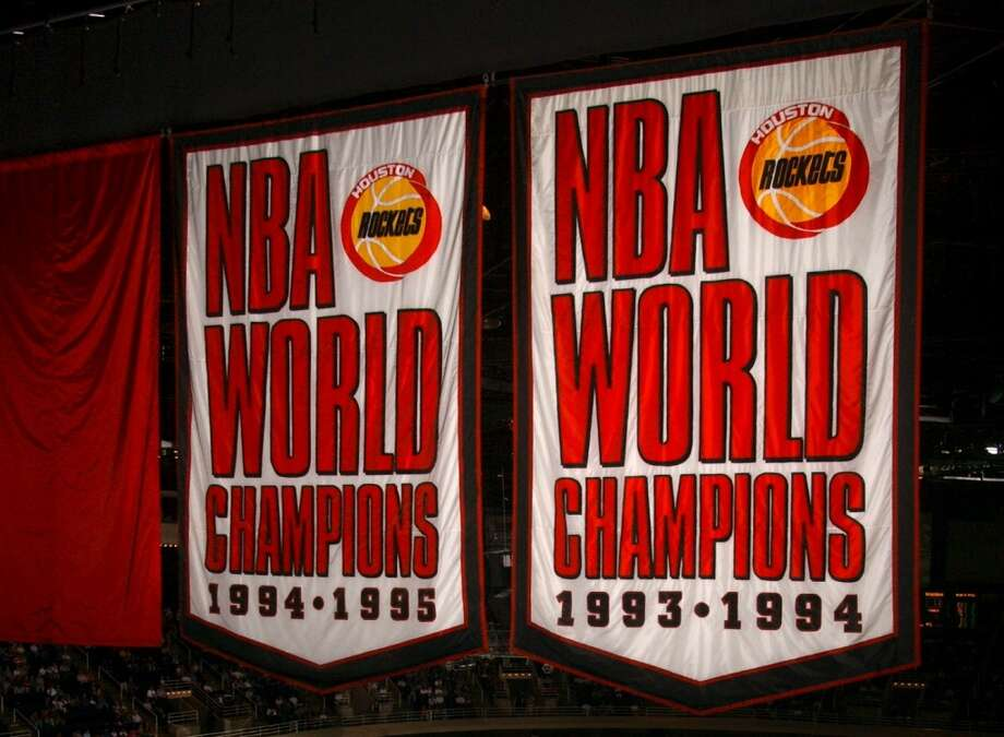 The mid-1990s were clearly the glory days for the Rockets and they have two NBA championship banners to show for it. Photo: Chronicle File Photo
