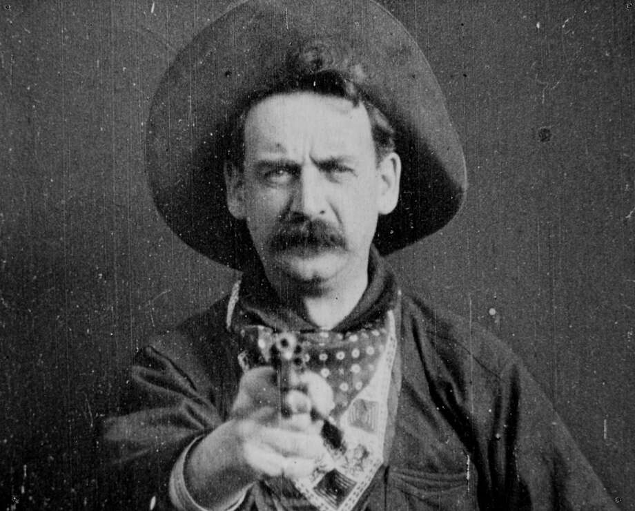 "George Barnes in ""The Great Train Robbery,"" a 1903 silent that was remade a year later. Photo: AP"