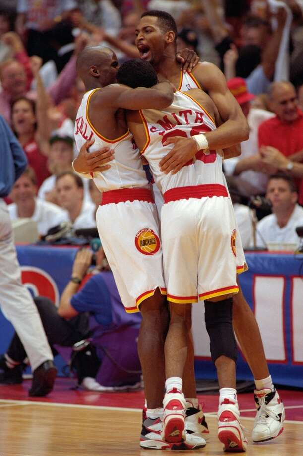 Kenny Smith, Vernon Maxwell and Robert Horry will forever remain in any Houstonian's heart who lived here through the Clutch City years. Photo: Kerwin Plevka, Chronicle