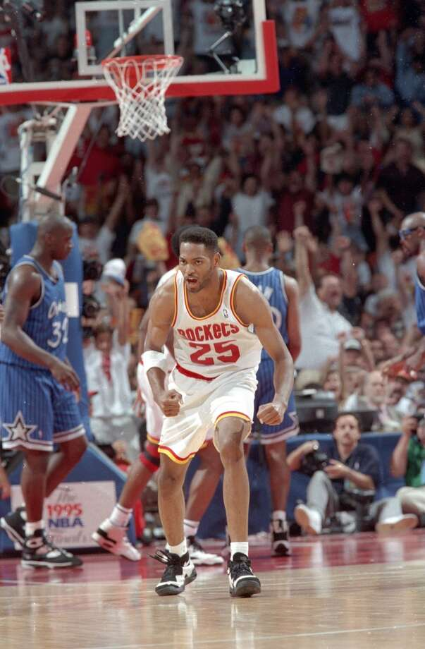 Robert Horry is a household name in Houston thanks to his deep range on the basketball court. Horry was as cold-blooded as it gets even though he was in his second and third years in the league when the Rockets went back-to-back. He would go on to win seven NBA titles during his 16-year career. Photo: Howard Castleberry, Chronicle