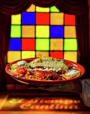 El Tiempo Cantina's flauta, tamale and taco plate, Tuesday, Feb. 19, 2013, in Houston. ( Nick de la Torre / Chronicle ) Photo: Nick De La Torre, Staff / © 2013 Houston Chronicle