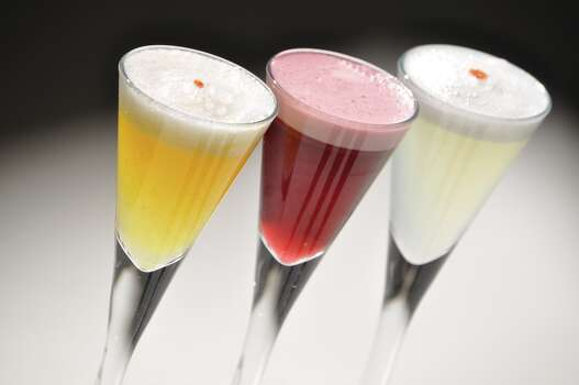 Latin Bites will be serving complimentary pisco sour flights Saturday, Feb. 2, to commemorate Pisco Sour Day, which is celebrated in Peru where the cocktail originated. The drink trio will include a traditonal pisco sour, as well chicha morada and passion fruit pisco sours. Photo: Courtesy Photo