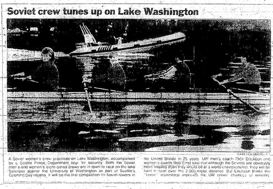 Seattle P-I coverage from May 1, 1987 about the Soviets visit to Seattle. Photo: Seattlepi.com File
