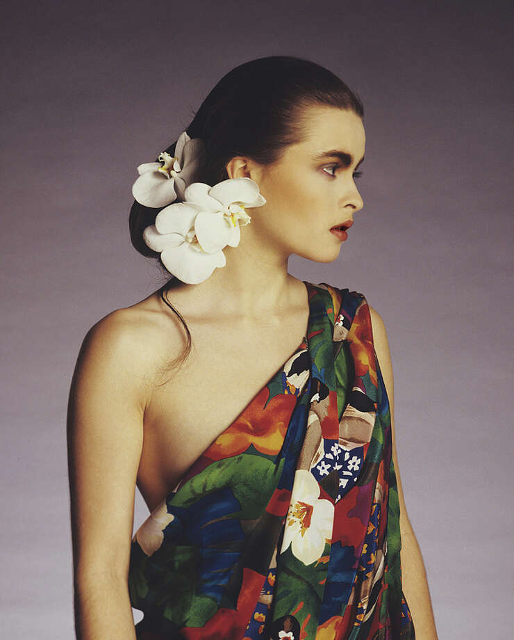 Helena Bonham Carter, in a photo shoot for British Vogue, 1987. Photo: Via Getty Images