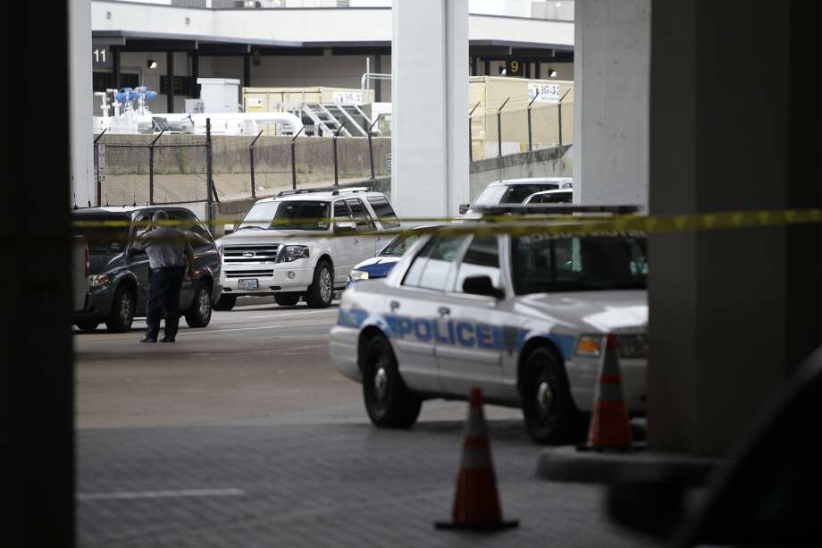 Shots were fired Terminal B at Bush Intercontinental airport in Houston on Thursday, May 2, 2013. Photo: By Melissa Phillip
