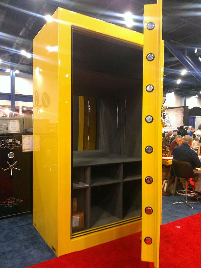 A giant gun safe made by Champion Safes, on display at the NRA convention in Houston.  Photo: Craig Hlavaty, Chronicle