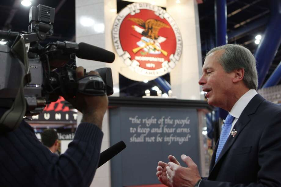 Lt. Gov. David Dewhurst speaks at the NRA convention on Friday, May 3 at the George