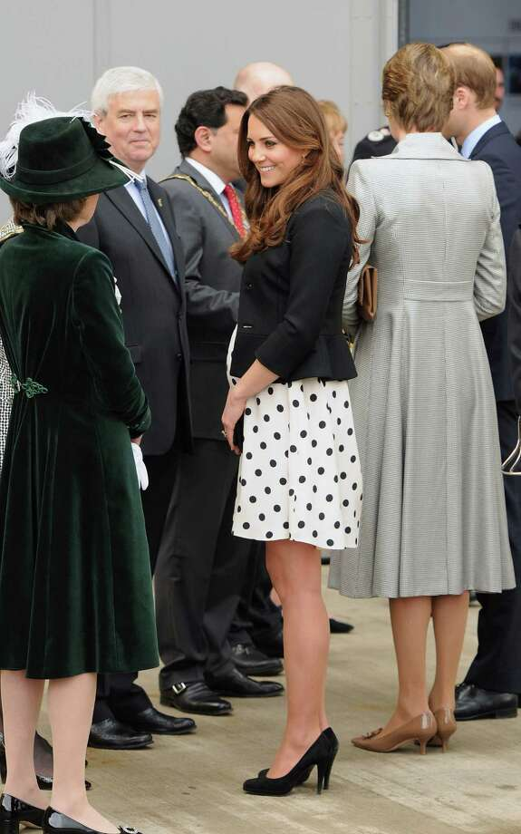 Catherine, Duchess of Cam-bridge, in an April photo. Is she too thin to be pregnant? Photo: Getty Images