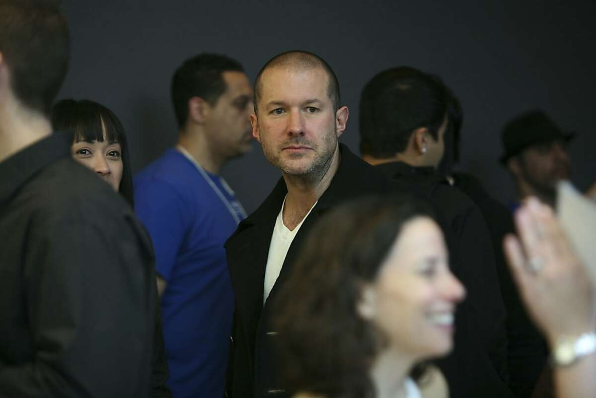 FILE -- Jonathan Ive, senior vice president of industrial design at Apple, at the Apple store in San Francisco, on April 3, 2010. Ive is responsible for the look and feel of the company's products, and will remain in the roll as Timothy Cook takes over for Steven P. Jobs, Apple's chief executive who plans to take a medical leave. (Jim Wilson/The New York Times)