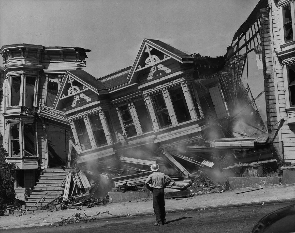 Houses being cleared in the Western Addition on July 9, 1959.
