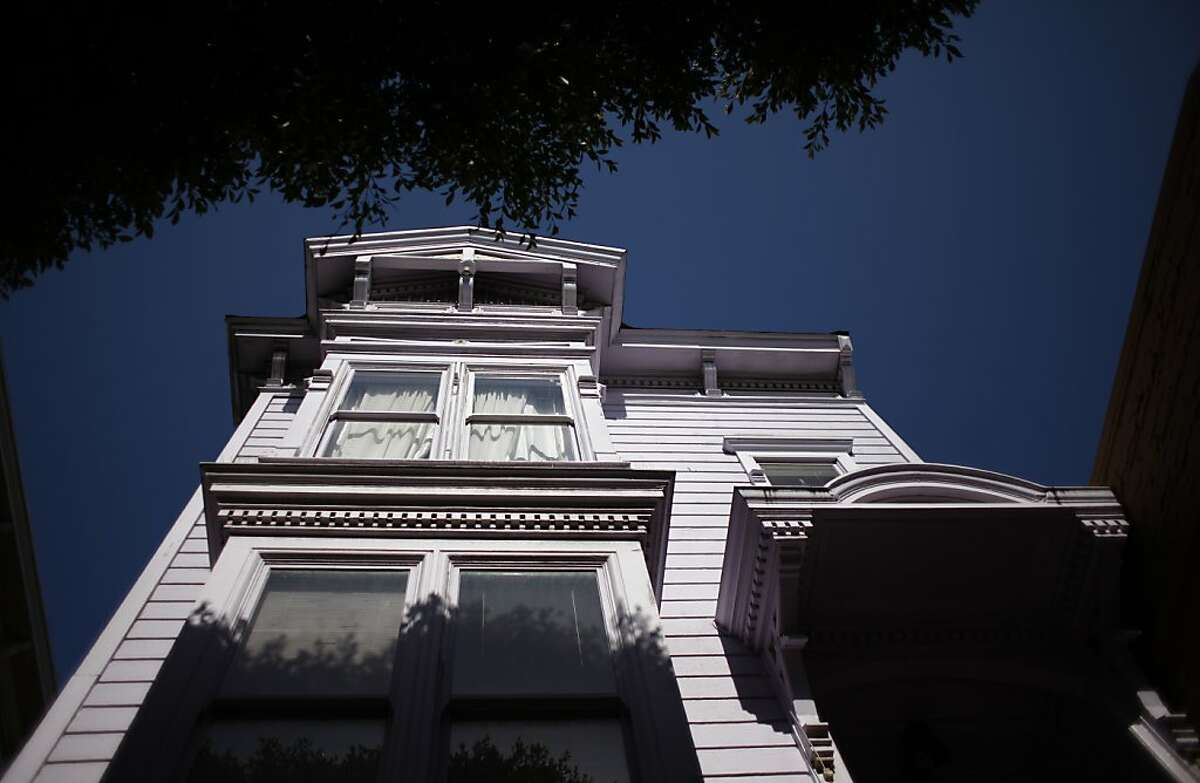 The violet facade of the Victorian at 1712 Fillmore Street is seen on Thursday, May 2, 2013.