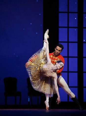 """May 3: San Francisco Ballet's """"Cinderella"""" debuts. Its star, Bolshoi-trained Maria Kochetkova, becomes a style star off the Opera House stage and appears on the cover of Pointe and San Francisco magazine. KNown for large glasses and colorful mixed patterns, @balletrusse has almost 200,000 Twitter followers and 22,000 on Instagram. Photo: Lea Suzuki, The Chronicle"""