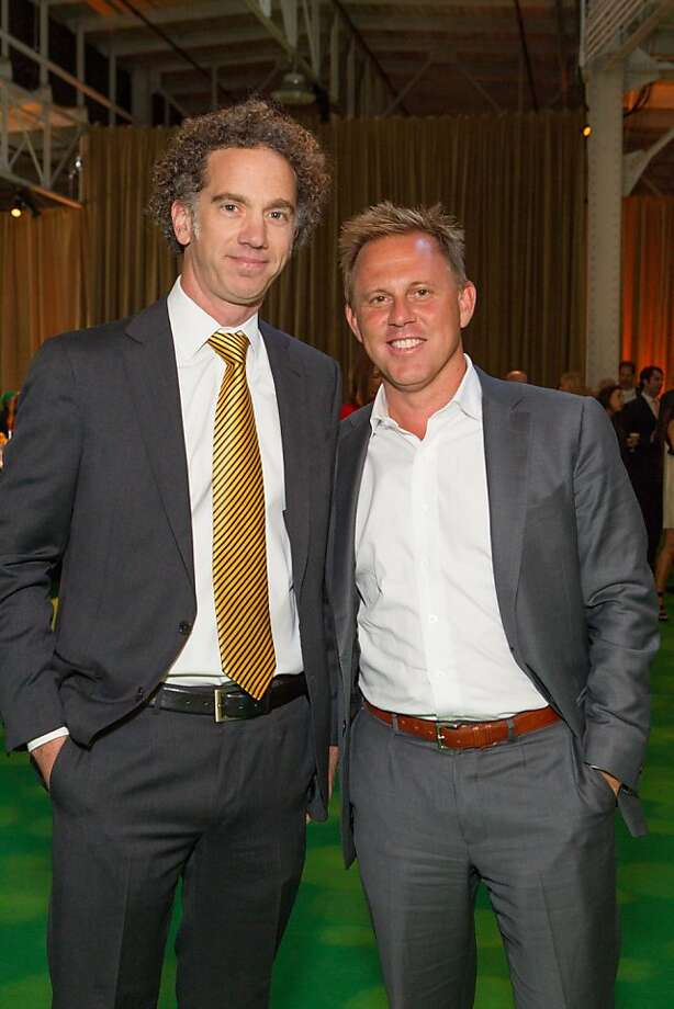 David MacKnight and Michael Anders at the annual Tipping Point Benefit on May 02, 2013. Photo: Drew Altizer Phototgraphy