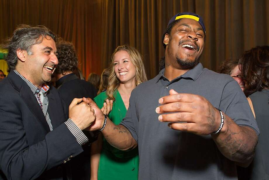 Hooman Khalili and Marshawn Lynch at the annual Tipping Point Benefit on May 02, 2013. Photo: Drew Altizer Phototgraphy