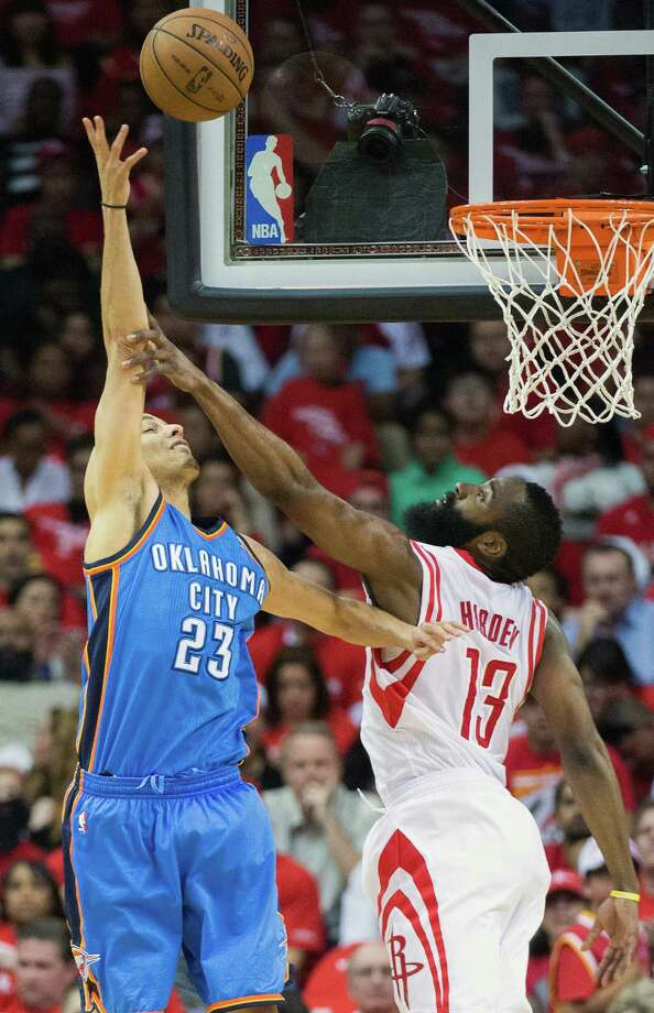 Thunder guard Kevin Martin, who led the Rockets in scoring in his 21/2 seasons with the team, has seen his shooting decline in the series against his former club. Photo: Smiley N. Pool, Staff / © 2013  Houston Chronicle