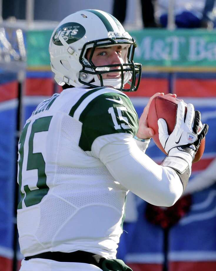 In this Sunday, Dec. 30, 2012 photo, New York Jets quarterback Tim Tebow (15) warms up before an NFL football game against the Buffalo Bills in Orchard Park, N.Y. The New York Jets say, Monday, April 29, 2013, they have waived Tebow. (AP Photo/Gary Wiepert) Photo: Mel Evans, Associated Press / AP