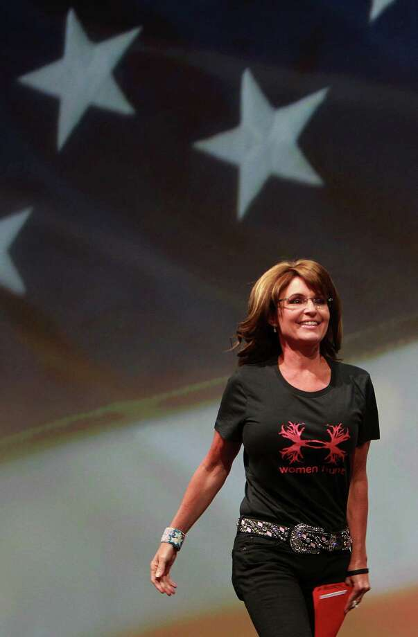 Also taking the stage at the George R. Brown Convention Center was Sarah Palin, former governor of Alaska and onetime GOP vice presidential candidate. Photo: Mayra Beltran, Staff / © 2013 Houston Chronicle