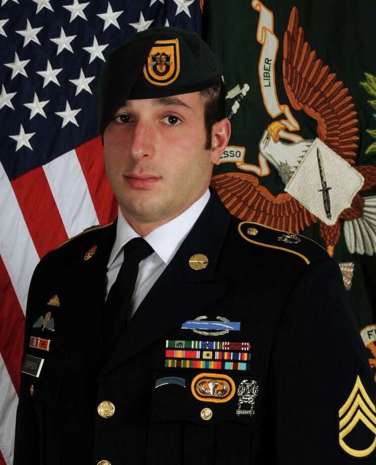 Staff Sgt. Michael H. Simpson, 30, died Wednesday.