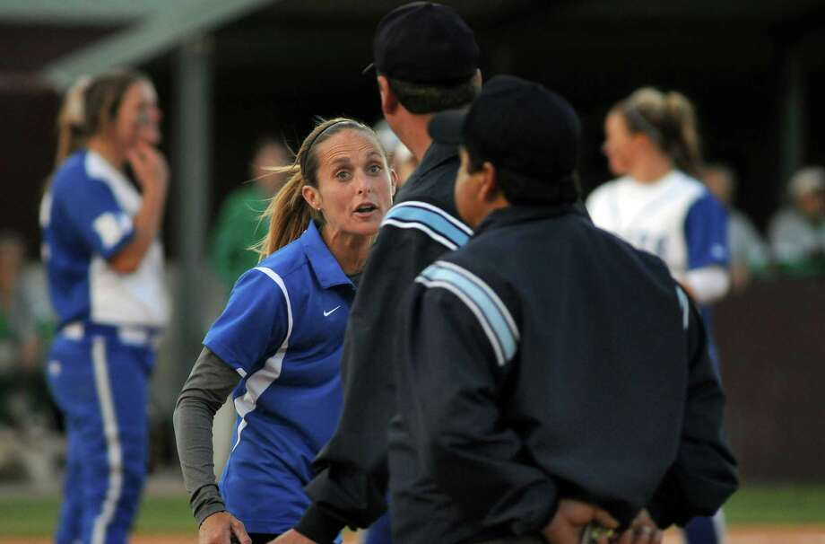 Barbers Hill softball coach Perri Smith has been placed on administrative leave. Photo: Jerry Baker, For The Chronicle