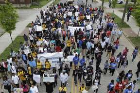 Thousands of students marched through downtown Birmingham, Ala., May 2, 2013, to mark the 50-year anniversary of the 1963 Children's Crusade against racial segregation.