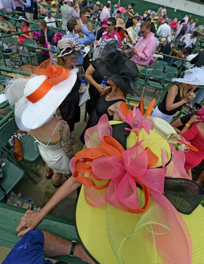Hats were the order of the day on Oaks Day May 3, 2013 at Churchill Downs in Louisville, KY     (Skip Dickstein/Times Union) Photo: SKIP DICKSTEIN