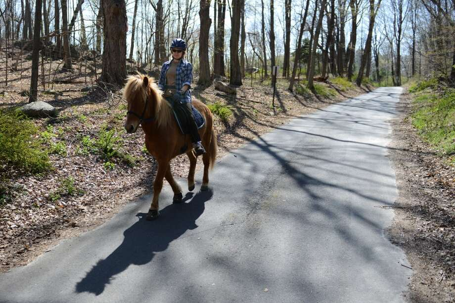 No. 14: Stamford, 06903According to the USDA's most recent Census of horses, this ZIP code has one farm with horses or ponies in their inventory.  Brigit Huwyler, of Stamford, rides her horse, Draumur, on the trails at Huntington State Park in Redding, Conn. on Saturday, April 27, 2013.  The 1017-acre park saw lots of activity on the trails and ponds with Saturday's warm, sunny weather.  The nice weather is expected to continue through the week.