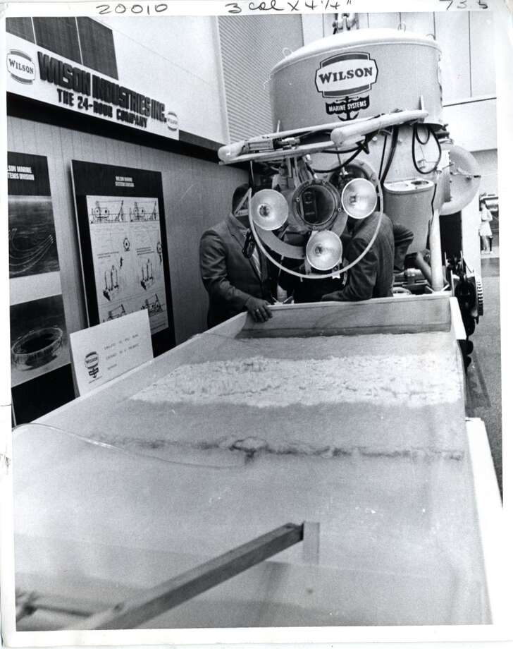 1970 - Wilson Marine Systems' Naucrates was on display at Offshore Technology Conference. Photo: Blair Pittman, Houston Chronicle