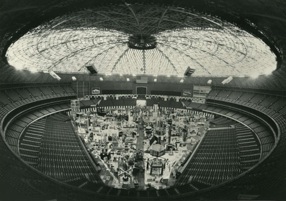 1980 - Offshore Technology Conference exhibits in the Astrodome Photo: Fred Bunch, Houston Chronicle