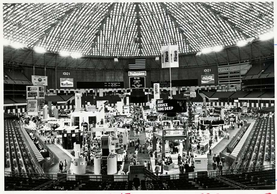 1981 - The Astrodome floor is packed with displays and attendees at the 1981 Offshore Technology Conference. Photo: Curtis McGee, Houston Chronicle