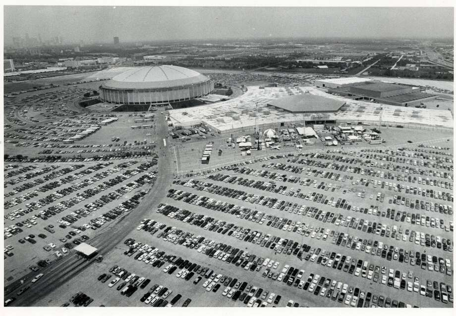 1983 - The Astrodome complex (Astrodomain) for the Offshore Technology Conference was packed with cars and exhibits even though attendance is down from previous years. Photo: Audrey Ueckert, Houston Chronicle