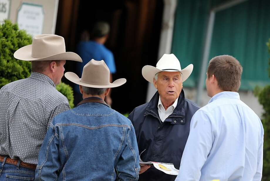 Trainer D. Wayne Lukas is seen on the backside on the morning of the Kentucky Derby at Churchill Downs Saturday, May 4, 2013, in Louisville, Ky.  Today is the 139th running of the Kentucky Derby. (AP Photo/Gregory Payan) Photo: Gregory Payan, Associated Press
