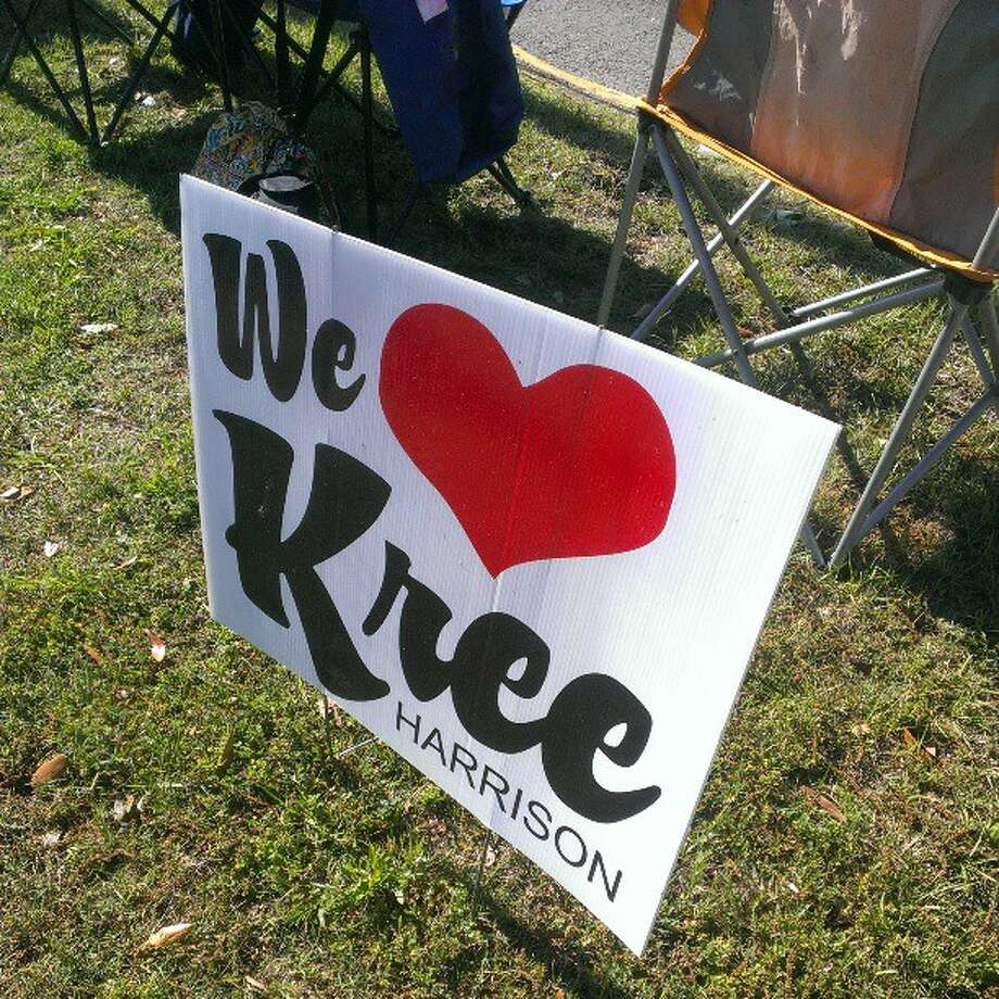Kree Harrison fans are showing their love for the 'American Idol' hopeful with a parade through Woodville. Fans are carrying signs that proclaim 'Let Kreedom Ring' and 'No. 1 fan.'   Jose D. Enriquez via Twitter The Beaumont Enterprise Photo: Jose