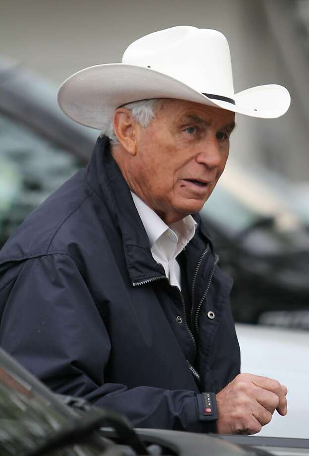 Horse trainer Wayne Lukas is seen outside his stable on the morning of the running of the 139th Kentucky Derby at Churchill Downs Saturday, May 4, 2013, in Louisville, Ky. (AP Photo/Julia Weeks) Photo: Julia Weeks, Associated Press