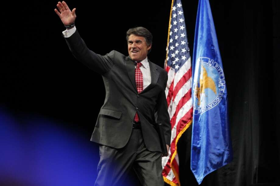 Gov. Rick Perry at the NRA convention.