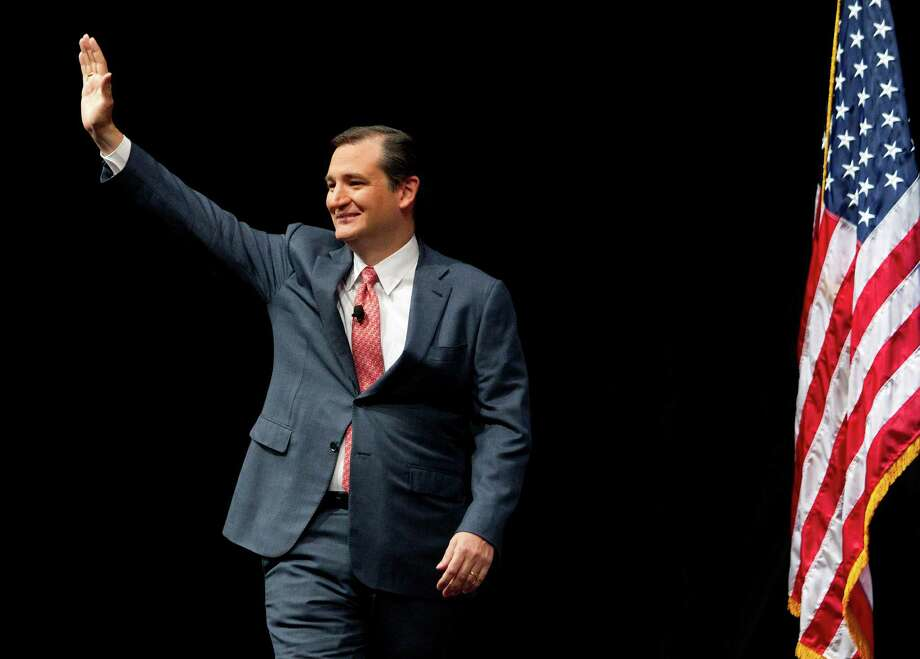 U.S. Senator Ted Cruz is introduced before speaking during the NRA-ILA Leadership Forum at the National Rifle Association's 142 Annual Meetings and Exhibits in the George R. Brown Convention Center Friday, May 3, 2013, in Houston. Photo: Johnny Hanson, Houston Chronicle / © 2013  Houston Chronicle