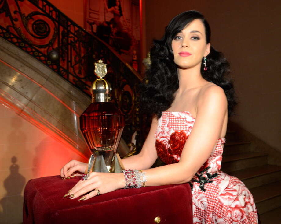 Katy Perry attends her fragrance sneak preview at the James B Duke Mansion on May 2, 2013 in New York City. Photo: Kevin Mazur / 2013 Kevin Mazur
