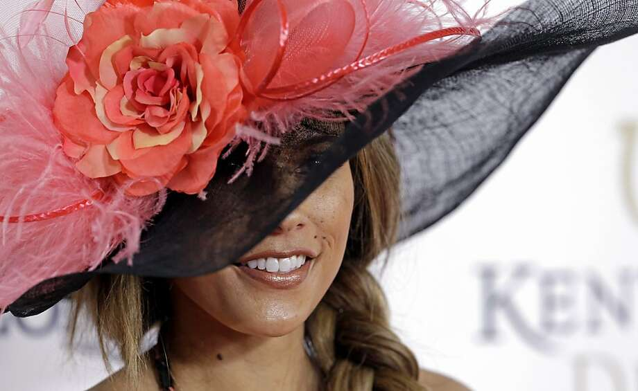 Model and television personality Bonnie Jill Laflin arrives to attend the 139th Kentucky Derby at Churchill Downs Saturday, May 4, 2013, in Louisville, Ky.  Photo: Darron Cummings, Associated Press