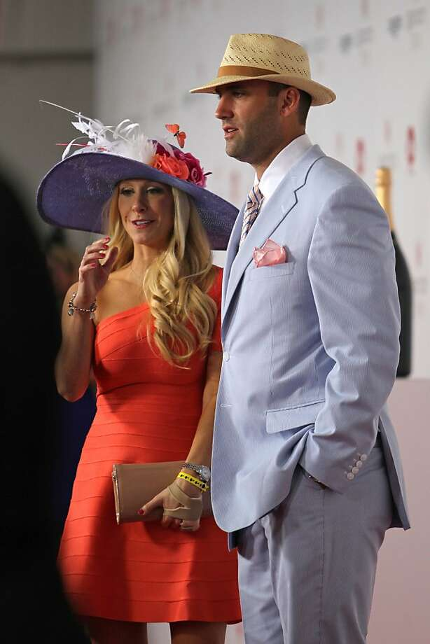 Houston Texans quarterback Matt Schaub arrives the running of the 139th Kentucky Derby at Churchill Downs Saturday, May 4, 2013, in Louisville, Ky.  Photo: Julia Weeks, Associated Press