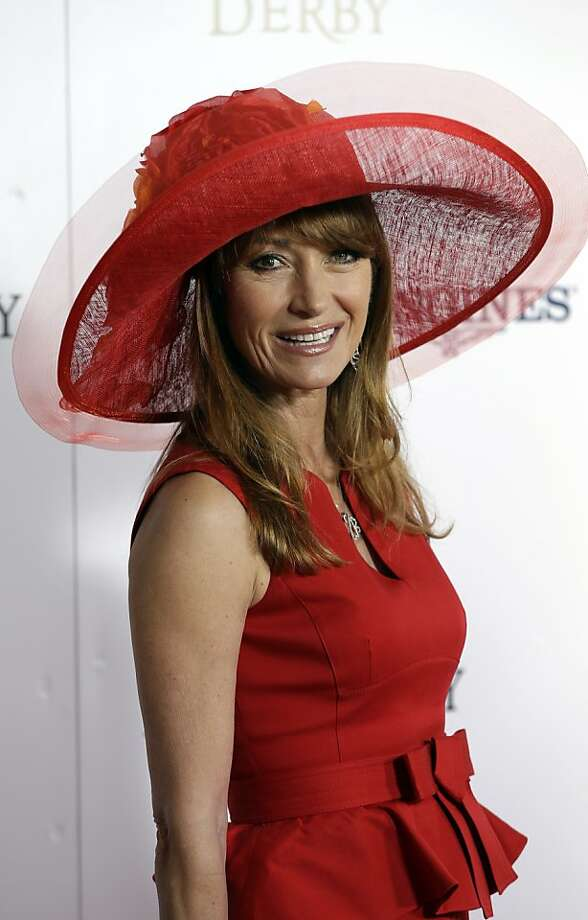 Actress Jane Seymour arrives to attend the 139th Kentucky Derby at Churchill Downs Saturday, May 4, 2013, in Louisville, Ky.  Photo: Darron Cummings, Associated Press