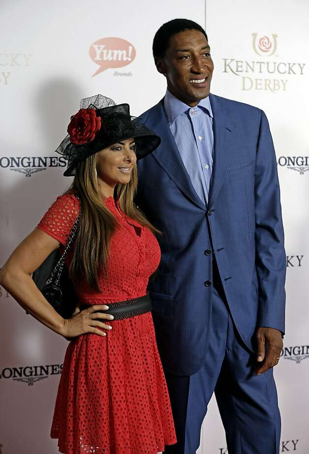 Former NBA player Scottie Pippen arrives with his wife Larsa to attend the 139th Kentucky Derby at Churchill Downs Saturday, May 4, 2013, in Louisville, Ky.  Photo: Darron Cummings, Associated Press