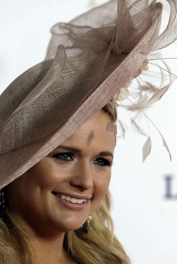 Country singer Miranda Lambert arrives to attend the 139th Kentucky Derby at Churchill Downs Saturday, May 4, 2013, in Louisville, Ky. Photo: Darron Cummings, Associated Press