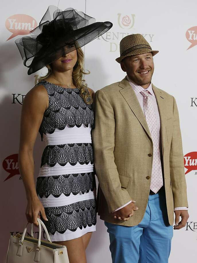 US skier Bode Miller and his wife Morgan arrive to attend the 139th Kentucky Derby at Churchill Downs Saturday, May 4, 2013, in Louisville, Ky.  Photo: Darron Cummings, Associated Press