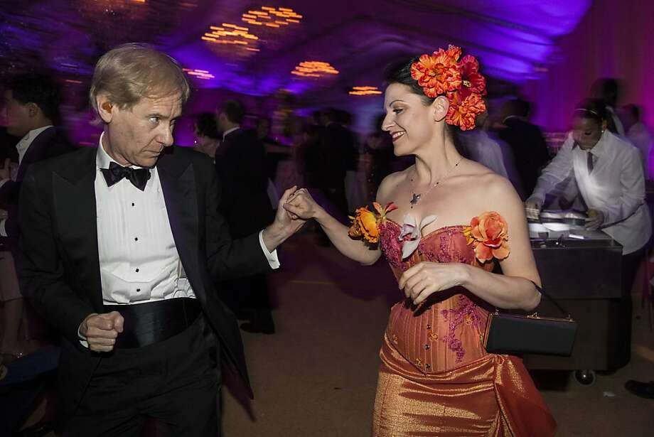 John Kerns dances with Autumn Adamme during the after party for San Francisco Ballet's Cinderella Opening Night Ball in a tent outside War Memorial Opera House in San Francisco, Calif., on Friday, May 3, 2013.  The party celebrated the opening night and United States premiere of choreographer Christopher Wheeldon's production of Cinderella. Photo: Laura Morton, Special To The Chronicle