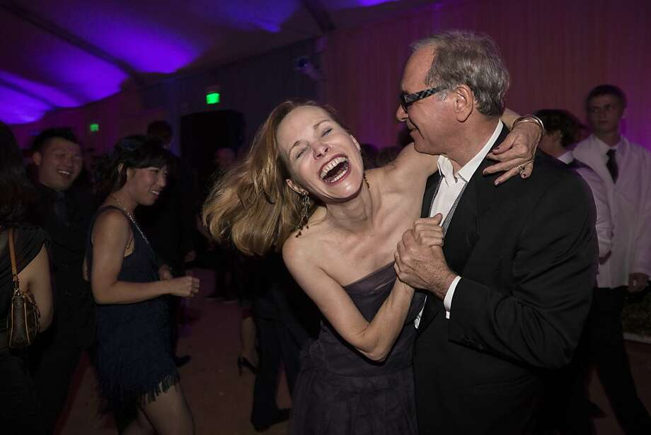 Jan Zakin and Jon Zakin enjoy the dance floor during the after party at San Francisco Ballet's Cinderella Opening Night Ball in a tent outside War Memorial Opera House in San Francisco, Calif., on Friday, May 3, 2013.  Zakin was one of the co-chairwomen of the after party. Photo: Laura Morton, Special To The Chronicle