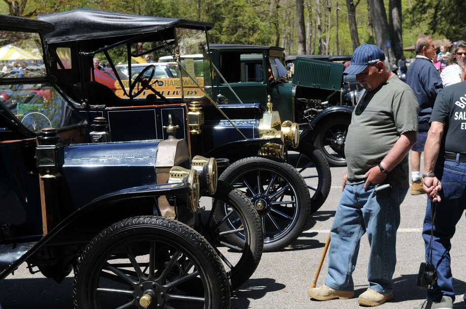 Angel Cirillo admires Model T Fords at the Stamford Museum and Nature Center's 10th Annual Model Ts to Mustangs Antique and Classic Car Show in Stamford Conn., May 4, 2013. Photo: Keelin Daly / Stamford Advocate Freelance