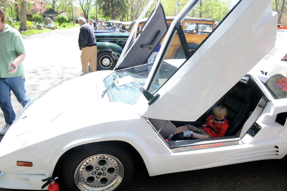 Matteo De Corato, 6, lounges in a 1988 Lamborghini at the Stamford Museum and Nature Center's 10th Annual Model Ts to Mustangs Antique and Classic Car Show in Stamford Conn., May 4, 2013. Photo: Keelin Daly / Stamford Advocate Freelance