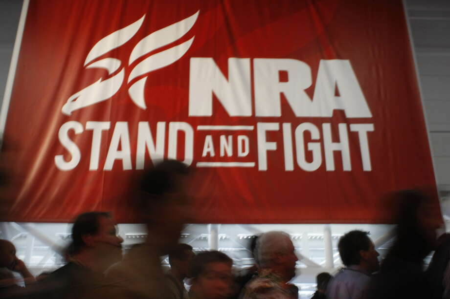 NRA convention, Friday, May 3 at the George R. Brown Convention Center in Houston. Photo: Johnny Hanson/Chronicle