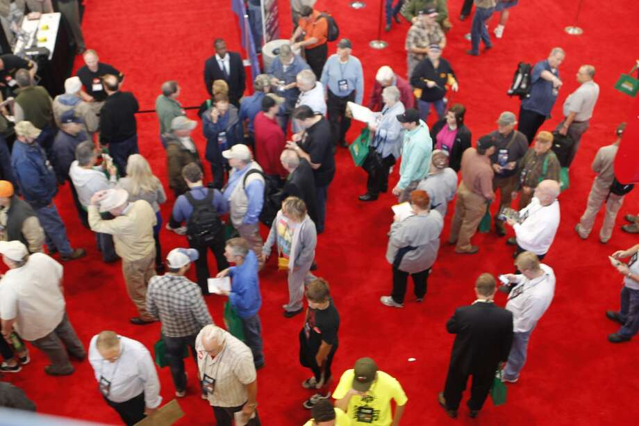 Convention goers filled the George R. Brown Center in Houston on Friday, May 3, 2013 for the 2013 NRA Convention. Photo: Johnny Hanson